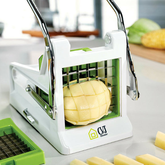 Manual French Fries & Potato Chips Cutter With Changeable Blades