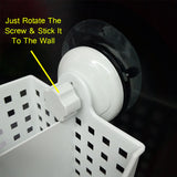 Sticky Suction Wall Mount Cutlery & Toilet Accessories Holder Organizer