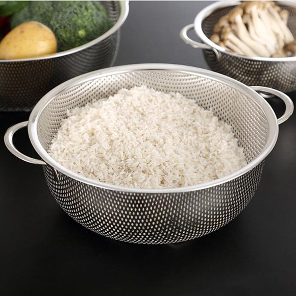 Stainless Steel Large Size 12 inches High Quality Drain Basket