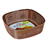 Lavena Plastic Square 10 X 10 inches Medium Fruit Basket