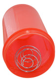 Red Plastic Sports Gym Shaker Bottle With Spring
