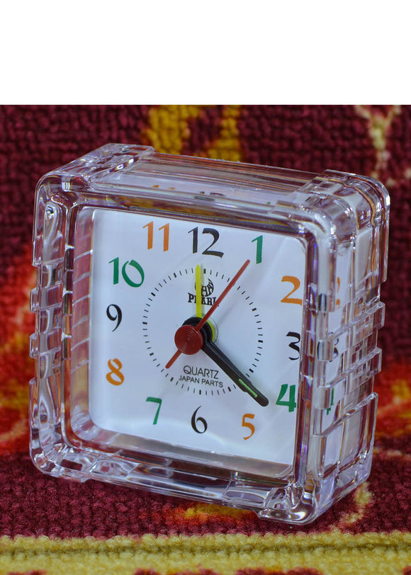 Square Alarm & Table Clock 3X3 inches