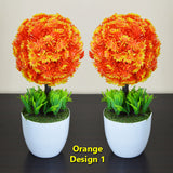 Pack Of 2 Small Artificial Home Decor Table Flower Pots