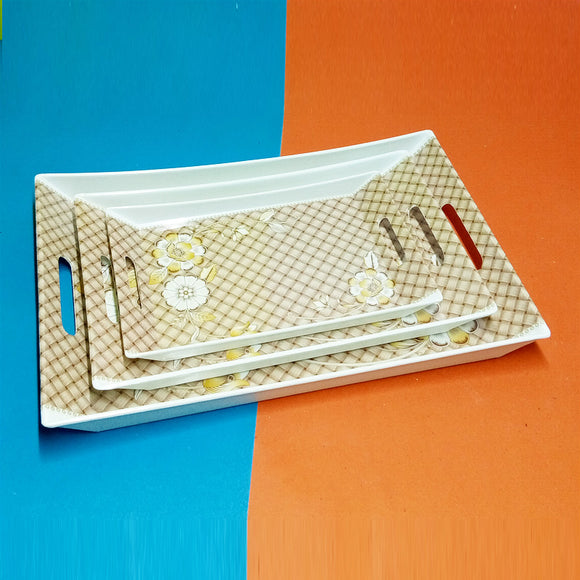 Casio 3pcs Melamine Plastic Tray Set