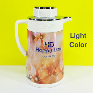 Happy Day 1-Litre Tea / Coffee Thermal Flask Inside Glass