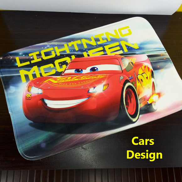 Cars 3D Character Printed Super-Soft China Velvet Door / Foot Mat ( 24 X 16 inches )