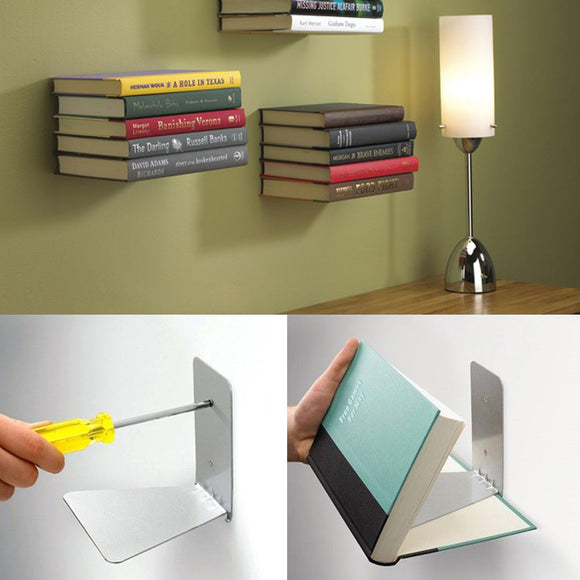 Invisible Metal Wall Mount Book Shelf