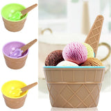Set Of 4pcs Ice-Cream & Desert Cup Set With Spoon