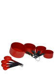 8 pcs Measuring Plastic Spoon Cup Set With Steel Handle