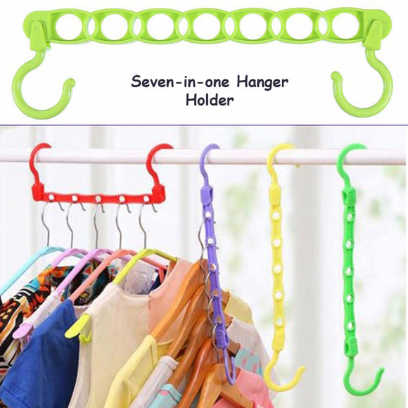 Seven-in-One Hangers Holder & Organizer