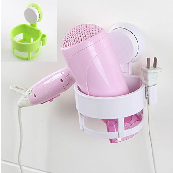 Sticky Hair Dryer Hanger Holder & Organizer Socket