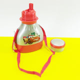 Bright 2-in-1 Kids Plastic School Water Cooler Thermos & Lunch Box
