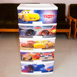 Kiwi Large Size 5-Step Character Printed Plastic Storage Drawer Box