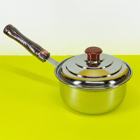 INAM-6 Small Size Stainless Steel 16cm Sauce Pan 1-Litre With Cover