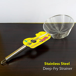 Heavy Duty Stainless Steel 7 inches Strainer Deep Frying Jali ( Large Size )