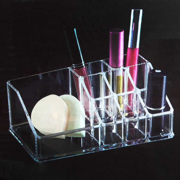 Acrylic Rectangle Shape Lipstick & Cosmetic Organizer