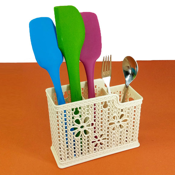 Creative 3-Partition Multi-Purpose Cutlery Holder & Organizer