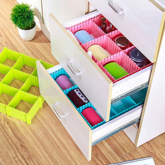 Adjustable D.I.Y Grid Drawer Closet Divider Storage Organizer Clapboard ( 6 Strips)