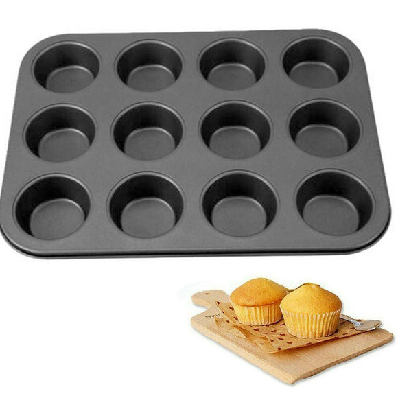 Non-Stick 13 X 10 inches 12 Cupcakes Mould