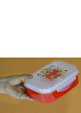 Jasmine 2 Partitions Plastic Lunch / Tiffin Box