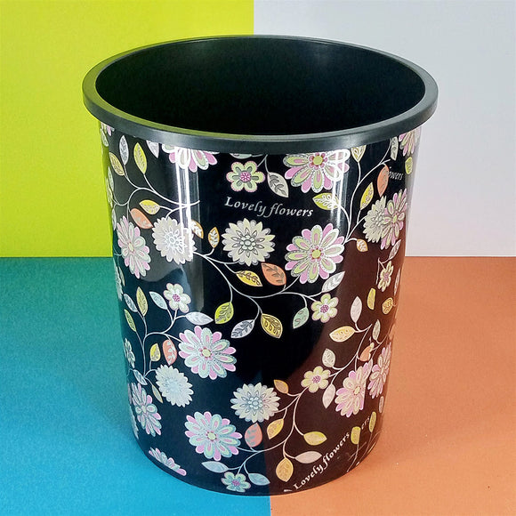 Printed Large Size Plastic Dust / Waste Bin (Random Prints & Colors