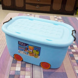 Aqua Multi-Purpose Plastic Extra-Large Size Storage Container Box With Wheels