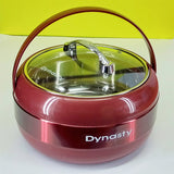 Dynasty Medium-Size Stainless Steel Roti Hot-Pot With Glass Lid