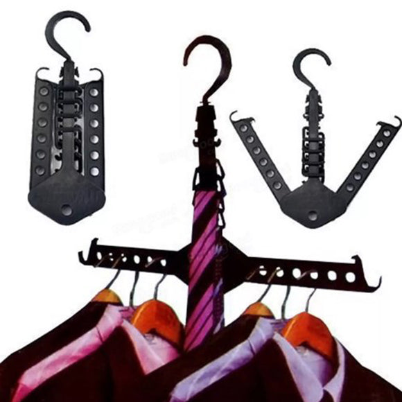 Magic Space Saving Multi-Dual Layer Hanger Organizer With Belt & Tie Hanger