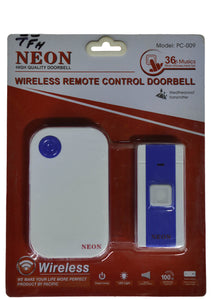 Neon Wireless Remote Controll DoorBell Pc-009