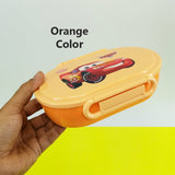 Bright Flat Style Kids' Plastic Lunch Box With Partition Lid
