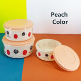 Navita 3pcs Large Size Plastic Food Container Bowl Set
