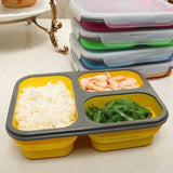 Portable Collapsible Foldable Silicon Air-Tight Food Container & Lunch Box