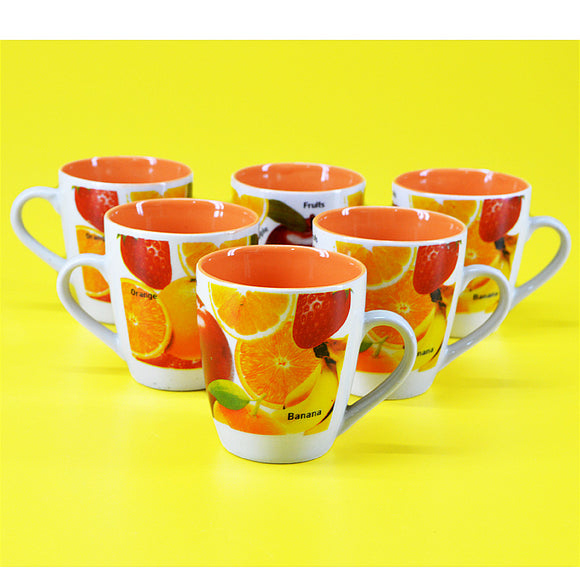 Pack Of 6 Daily Use Ceramic Cups