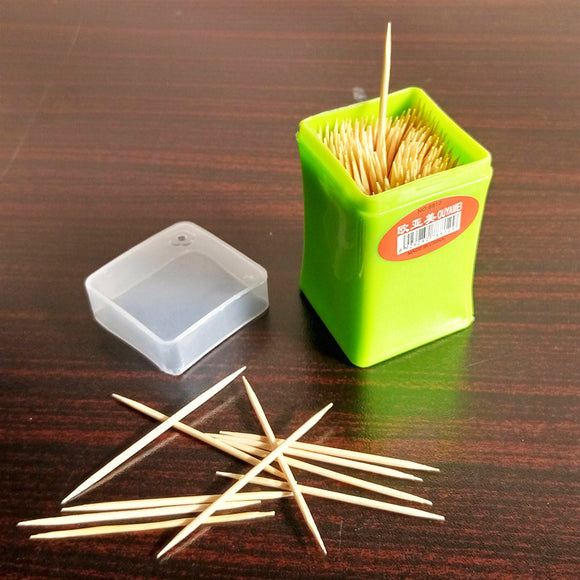 Wooden 100pcs Tooth Picks With Plastic Jar