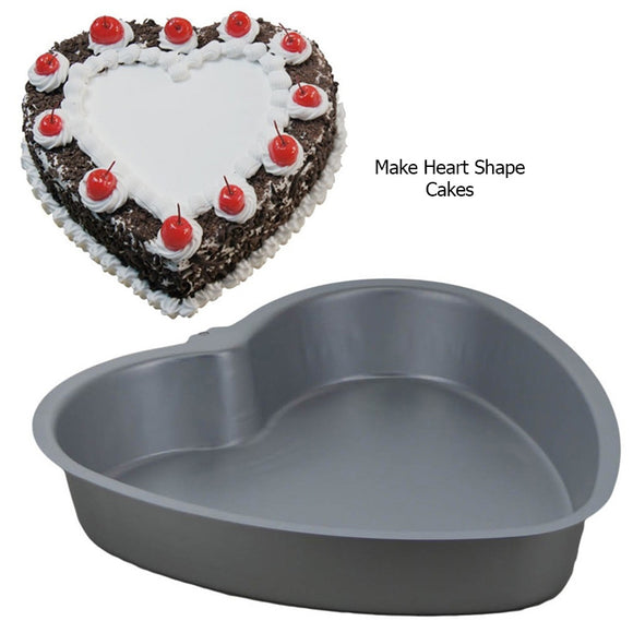 Heart Silver 10 X 9 inches Cake Mould