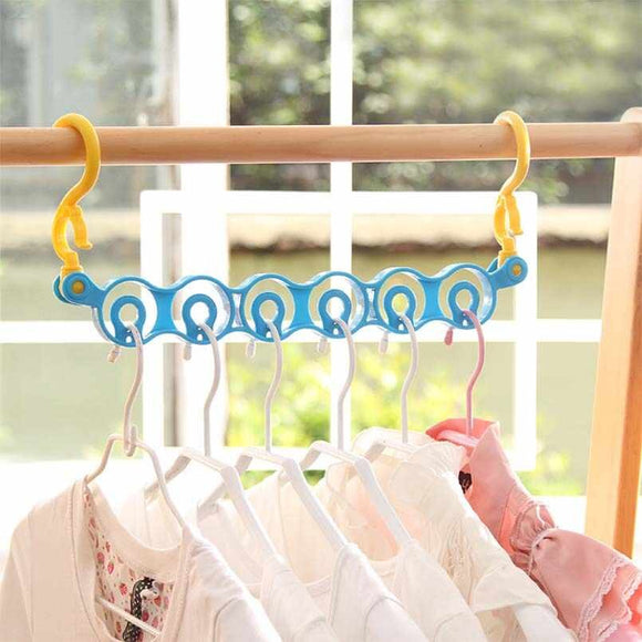 6-Hole Plastic Scarf & Dupata Hanger Holder & Organizer ( Random Colors )