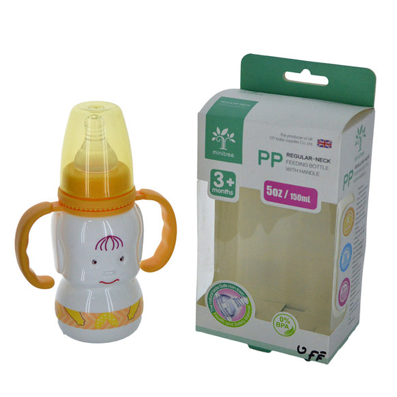 Minitree Baby Plastic 150ml Feeding Bottle With Nipple