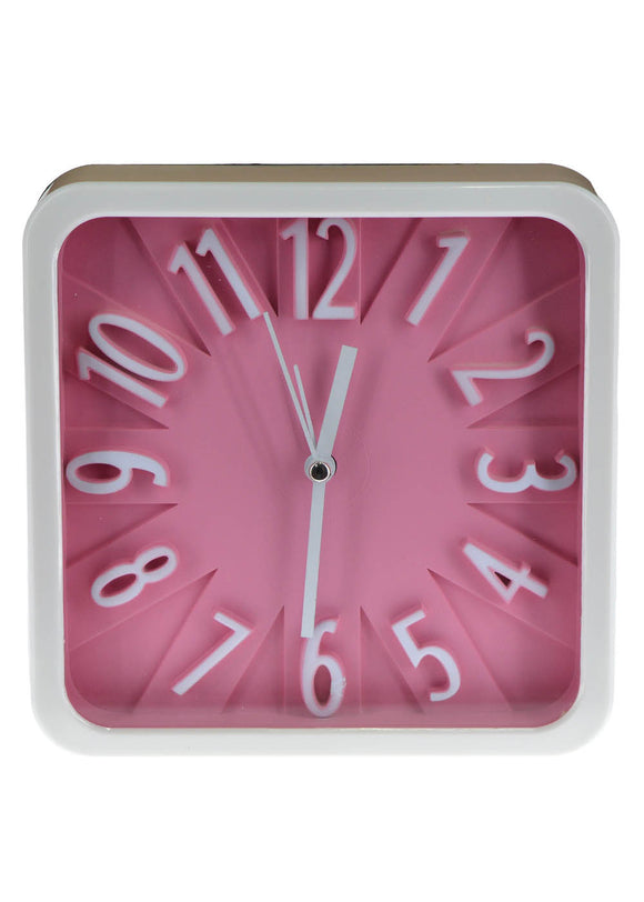 Square Alarm & Table Clock 6 X 6 inches