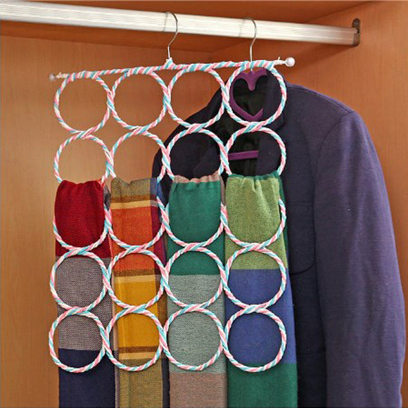 Foldable Scarf And Dupata Organizing Hanger ( 20 Holes) Random Colors