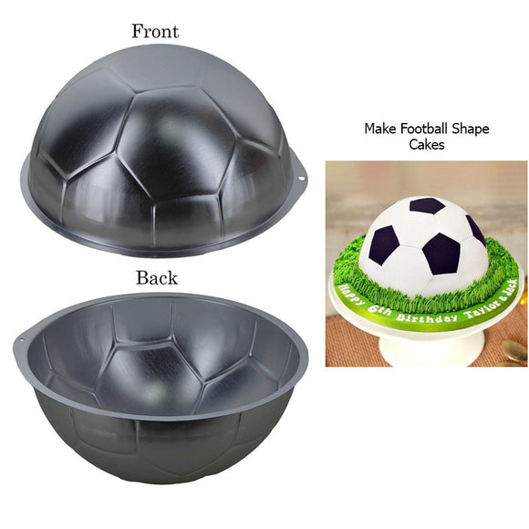 Half Football Shape Silver 9 inches Cake Mould
