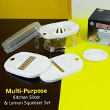 4-in-1 Multi-Function Kitchen Slicer, Grater, Lemon Squeezer & Egg Seprator Gadget