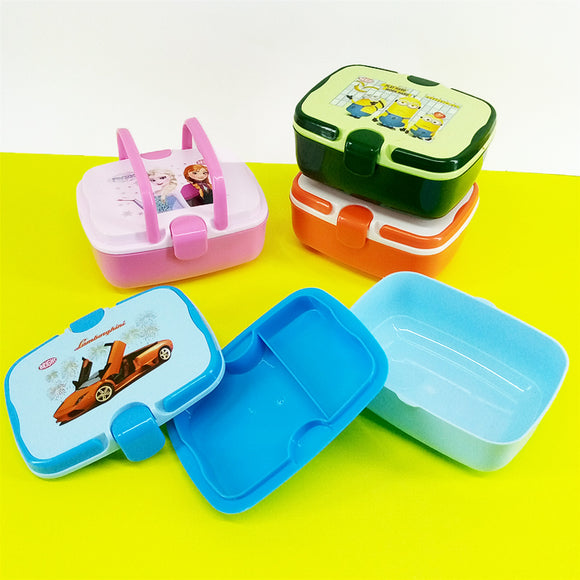 Bright Click Kids' School Plastic Tiffin & Lunch-Box