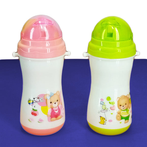 Kids' Baby Plastic 200ml Bottle With Nipple Straw