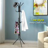 Metal Tree Style 11-Hooks Coat, Hat Scarf, Dupata & Clothes Hanging Display Rack