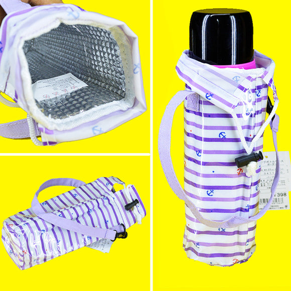 Bottle Cover Carry Plastic Insulated Pouch With Strip