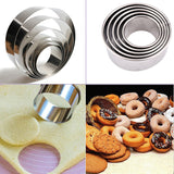Stainless Steel 5-Pcs Round Cookie Cutter Set