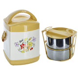 Rolex Lunch Carrier / Tiffin (2 Stainless Steel Bowls With Salad Separator)
