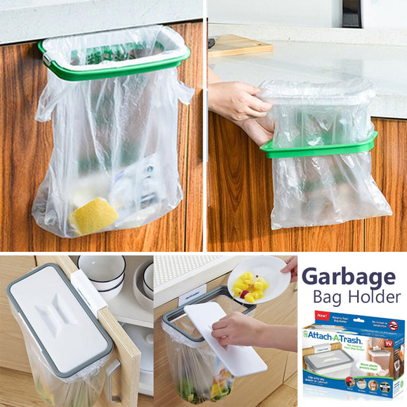 Attachable Hanging Kitchen Trash & Garbage Bag Holder