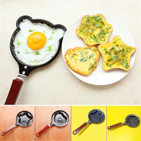 Extra Small Non-Stick Mini Omelet & Egg Frying Pan With Various Shapes