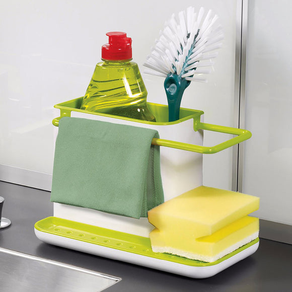 Multi-Function Plastic Kitchen Sink & Toilet Use Caddy & Stand